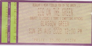 Gig On The Green 2002 Ticket