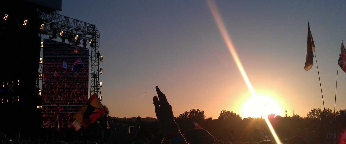 Isle of Wight Festival 2012 Main Stage Sunset