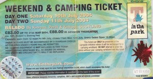 T In The Park 2004 Ticket