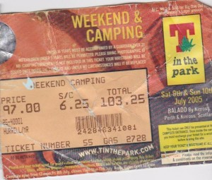 T In The Park 2005 Ticket