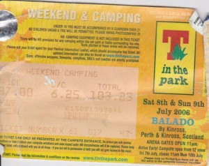 T In The Park 2006 Ticket