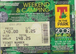 T In The Park 2008 Ticket