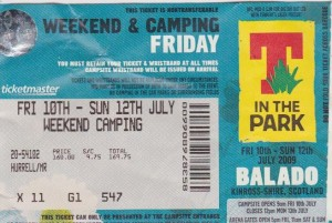 T In The Park 2009 Ticket