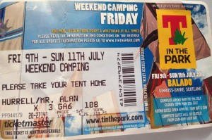 T In The Park 2010 Ticket