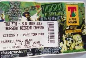 T In The Park 2011 Ticket