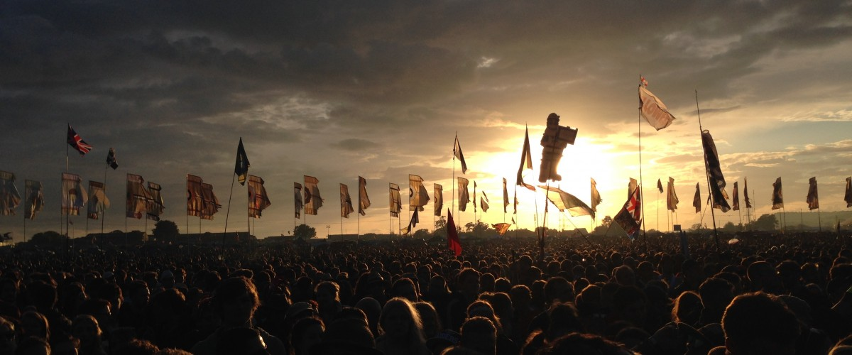 Glastonbury Festival 2014 Sunset